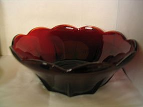 Anchor Hocking Swedish Moderne Ruby Bowl