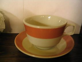 Homer Laughlin Peach Cup & Saucer