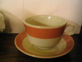 Homer Laughlin Peach Cup & Saucer