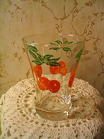 Vintage Orange Juice Glass