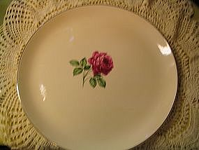 Crooksville Rose Plate
