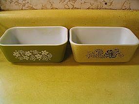 Pyrex Folk Art Refrigerator Dish