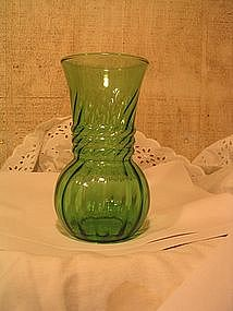 Anchor Hocking Green Vase
