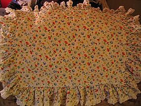 Vintage JC Penneys Chintz Sheet