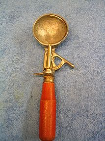 Red Handle Ice Cream Scoop