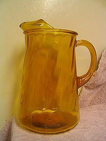 Anchor Hocking Swirl Pitcher