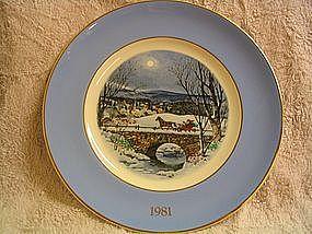 1981 Avon Christmas Plate