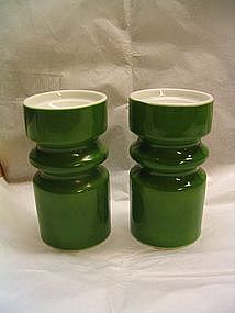 Green Porcelain Candle Holders