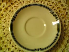 Homer Laughlin Restaurant Saucer Black Design