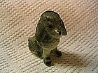 Vintage Gray Poodle Figurine