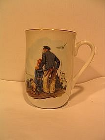 Norman Rockwell Looking Out to Sea Mug