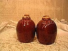 Hull Brown Drip Salt and Pepper Shakers