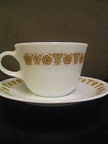 Butterfly Gold Cup and Saucer