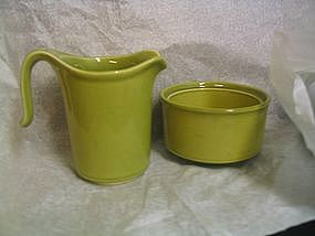 Taylor Smith Taylor Provincial Green Sugar & Creamer