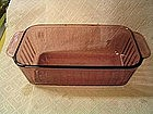 Pyrex Cranberry Loaf Pan SOLD