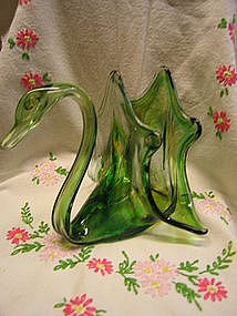 Glass Swan Holder