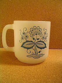 Glasbake Blue Onion Mug