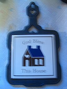 God Bless this House Trivet