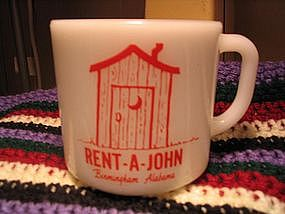 Anchor Hocking Rent-A-John Mug