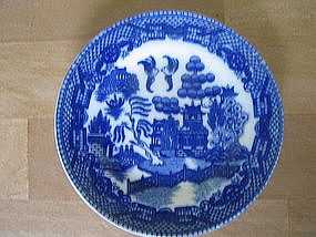 Miniature Blue Willow Plate