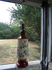 Vintage Dogwood Lamp