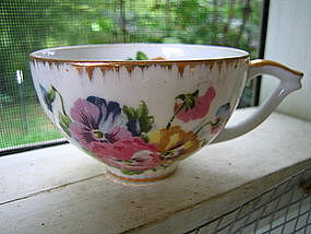 Vintage Porcelain Pansy Cup