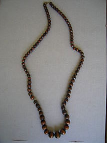 Bronze Metal Bead Necklace