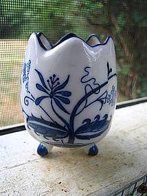 Porcelain Blue Onion Vase