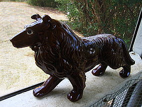 Redware Collie Figurine