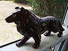Redware Collie Figurine