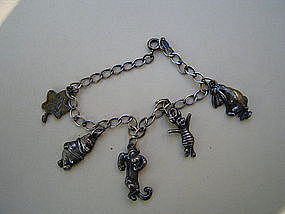 Sterling Pooh and Friends Charm Bracelet