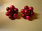 Fuchsia Bead Earrings
