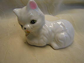 White Kitten Figurine