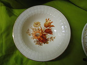 Knowles Rust Flowers Bowl