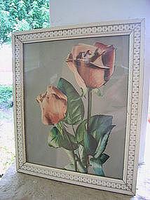 Vintage Rosebud Print