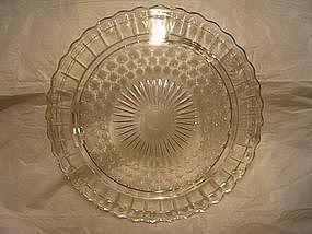 Vintage Crystal Cake Plate
