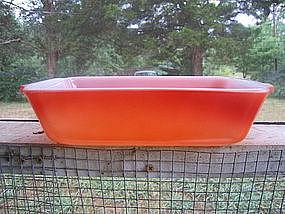 Orange Fire King Loaf Pan