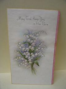 Vintage Glitter Sympathy Card