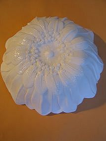 Floral Milk Glass Bowl