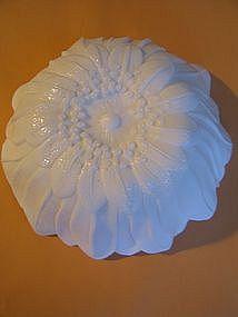 Floral Milk Glass Bowl