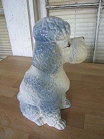 Blue Poodle Figurine