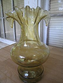 Green Blown Glass Vase