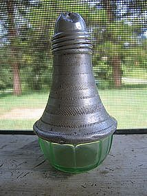 Green Depression Glass Shaker
