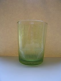 Peridot Green Old Fashioned Glass