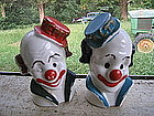 Clown Salt and Pepper Shakers  SOLD
