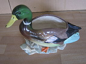 Lefton Mallard Duck Planter