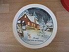 Lasting Memories Christmas Plate   SOLD
