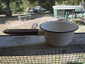 Vintage Enamel Saucepan
