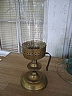 Brass Candle Holder and Globe