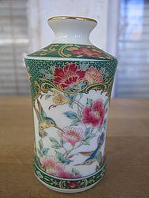 Porcelain Hummingbird Vase